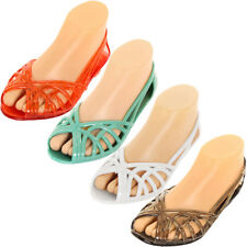 5e7977b96273 Women Jelly Slip On Sandals Shoes Ballet Flats Garden Hollow Plastic Water  Clear
