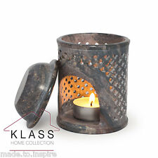 Jali Soapstone Moroccan Oil Diffuser Warmer TeaLight Holder Burner Aromatherapy
