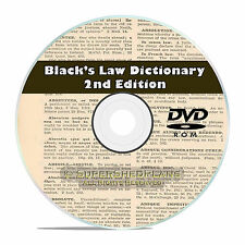 Black's Law Dictionary, 2nd Edition, The Vintage Law School Bible of Legal Terms