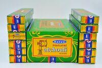 India Satya Nag Champa Natural Patchouli dhoop Incense Sticks Agarbatti 12Pk 15g