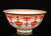 China Handwork Powder Enamel Alum Red Glaze Jingdezhen Porcelain Bowl