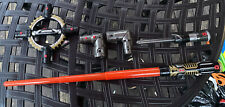 Star Wars BladeBuilders Spin-Action Lightsaber 5 Pieces. Tested And Working.