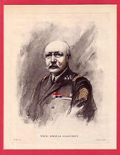 le Vice-Amiral Gauchet  gravure années 20  Fouqueray / GMA6