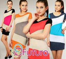Sexy Multicolor Women's Dress Bodycon Style Scoop Neck Tunic Size 8-12 8405