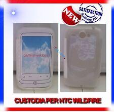 Pellicola+Custodia TPU CRYSTAL BIANCA per HTC WILDFIRE
