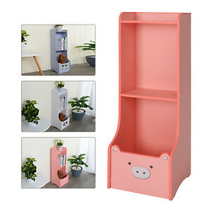 Kids Novelty Animal Bookcase Storage Unit Toy Box Cabinet Pig Cat Panda Shelving