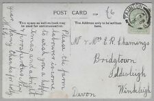 1909 Postcard sent to Mr & Mrs E.R. Chammings, Bridgtown, Iddesleigh, Winkleigh