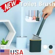 Toilet Brush Silicone with Toilet Brush Holder Creative Cleaning Brush Set