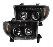 Recon 264194BK Smoked Projector Headlights for 2007-2013 Toyota Tundra & Sequoia