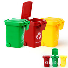 3 Trash Can Toy Garbage Truck Cans Original Color Mini Curbside Vehicle Bin Toys