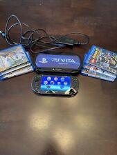 PSP Vita With 6 Games Lot, Charger & Travel Case