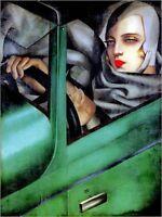 Quadro su pannello in legno MDF Tamara De Lempika My Portrait