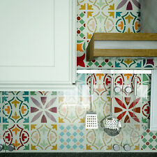 Patchwork Tile Stencil - Furniture Stencil - Tile Stencil- Wall & Floor Stencil