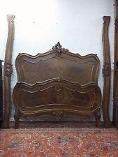 Magnifique lit Louis XV en noyer cama bett letto Luigi XV