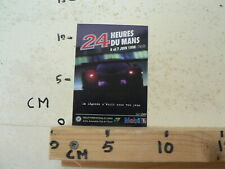 STICKER,DECAL 24 HEURES DU MANS 6 EN 7 JUIN 1998  ENDURANCE RACE CAR