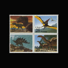 Us, Sc# 2425b, Mnh, 1989, Dinosaurs, Stegosaurus, Brontosaurus, Ty Rex, Fdd-9