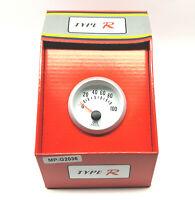 Universal 2'' 52mm  Electronic Oil Pressure PSI Gauge Meter Sensor Red Light