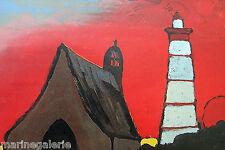 Art breton 2 cartes 25cm J. Duquoc décoration murale marine Bretagne à encadrer