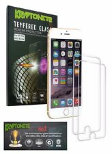 KRYPTONITE iPhone 6/6s Tempered Glass Screen Protector (2 Pack) Bubble Free