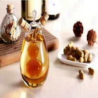 Oil Vinegar Pourer Glass Bottle 500ml Condiment Cruet Dispenser Glass Bottle ILC
