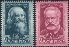Hungary 1952 Leonardo da Vinci/Victor Hugo/Artists/Art/Writers/Books 2v (n45604)