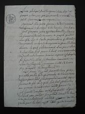 ANTIQUE FRENCH LEGAL DOCUMENT - DATED 1832