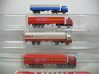 AI648-1# 4x Wiking H0 Sattelzug/LKW Mercedes-Benz MB: Wella+Rosbacher etc