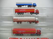 AI648-1# 4x Wiking H0 Semi-remorque/CAMION Mercedes-Benz MB: Wella+Rosbacher etc
