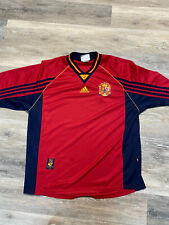 Vintage 1998 Spain National Team Jersey Red And Blue Size XL