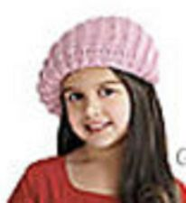 American Girl Doll Pink Knit Beret Hat FOR GIRLS One Size Toddler Fall Flowers