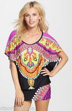 Trina Turk Nuevo Sol Tunic Swimsuit Cover Up Dress NWT $148 Sz Md Women's