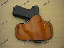 Cross Draw Leather Gun Holster Glock 26,S&W M&P,Sig Sauer P229,CZ 75,Made In USA