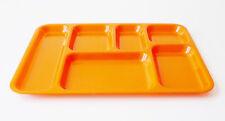 plateau repas télé vintage des années 70 pop 70's plastique orange design 1970