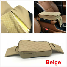 1x Universal Car Armrest Pad Cover SUV Center Console PU Leather Mat Protector