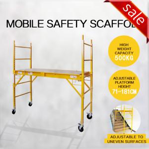 500KG Mobile Scaffold High Work Platform Scaffolding Portable Safety Ladder