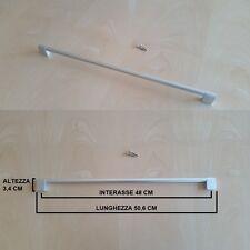 Maniglia Maniglione Cucina, Armadio, Cassetto. Alluminio Satinato, 480mm  Design