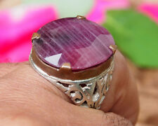 antik orient silber statement Rubin ring  aus Afghanistan ruby ring Nr:17/471