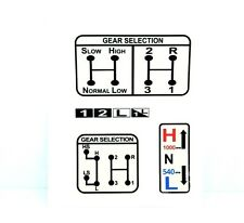 GEAR & PTO SELECTION DECAL FITS SOME DAVID BROWN 1200 1210 1212 TRACTORS