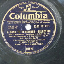 78rpm RAWICZ & LANDAUER a song to remember , selection