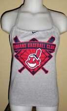 Ladies Cleveland Indians Reconstructed MLB Baseball Shirt Halter Top DiY