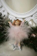 Angel Decorative Figurine Spring Pink Christmas Shabby Vintage