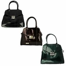 Ladies Clarks Marley Alice Smart Black, Burgundy Or Green Patent Tote Bag