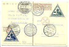 NED INDIE DUTCH INDIES 1933  SPEC FL  CARD PLANE- PANDA POSTJAGE R-  ALMOST  VF