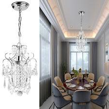 Indoor Crystal Chandelier Chrome lampshade Crystal Chandeliers Lighting  Fixture