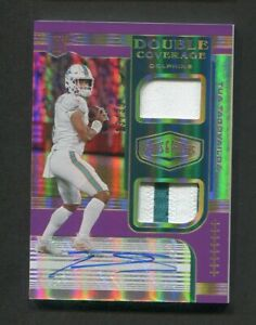 2020 Plates & Patches Tua Tagovailoa Rookie Patch Auto Double Cover /35 Dolphins