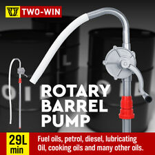 Aluminium Rotary Drum Pump Diesel Fuel Kero Oil Petrol 29 Gallon Drum Hand Pump