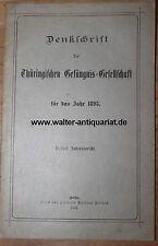Jahresbericht 1895 Denkschrift d. Thüringischen Gefängnis-Gesellschaft Thüringen