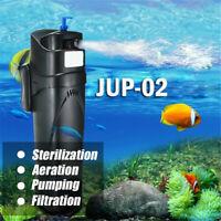 Fish Tank Plastic UV Sterilizer Purifier Filtration Oxygen Pump Aquarium Filter