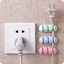 2 Pieces USB Cable Clip Desk Tidy Organiser Wire USB Cable Storage Holder