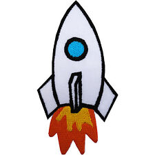 Rocket Iron On Patch Embroidered Sew On Badge Space NASA T Shirt Jacket Badge